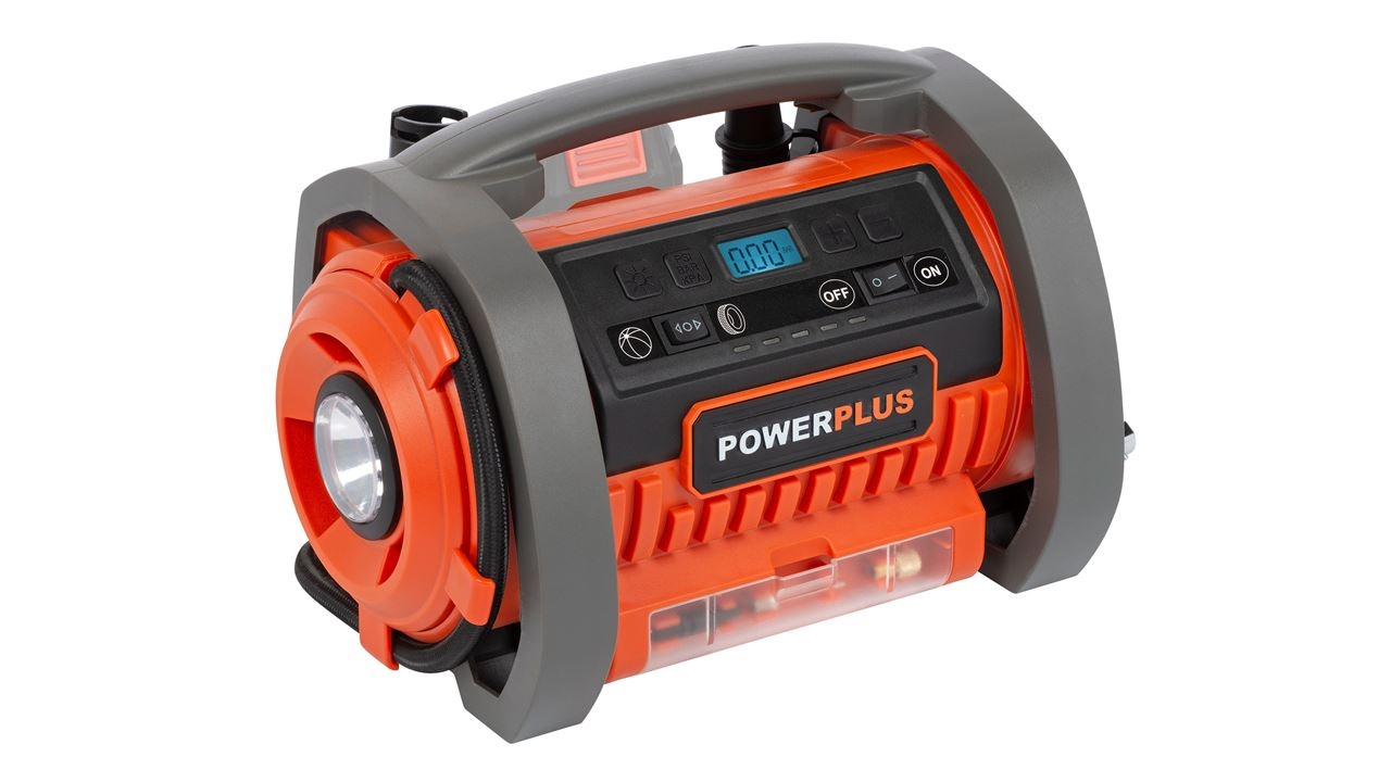 powerplus inflator/deflator 20v (zonder batterij)