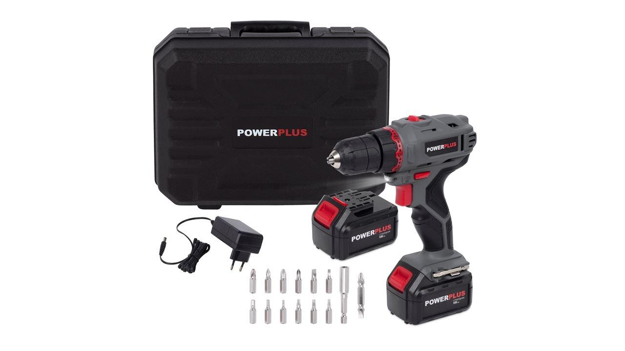 powerplus schroefboormachine 18v li-ion