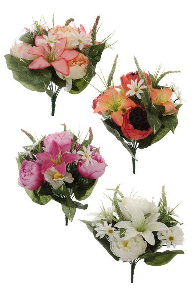 pure royal peony/lily/hydrangea bush x13 assorted