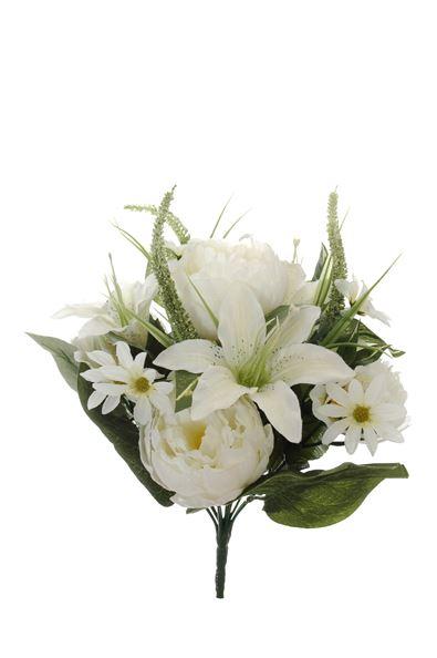 pure royal peony/lily/hydrangea bush x13 cream