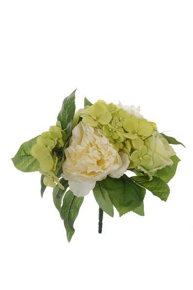 pure royal peony/rose bud/hydrangea bush x11 cream
