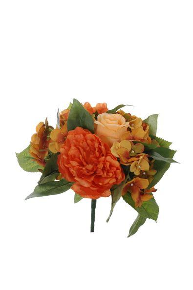 pure royal peony/rose bud/hydrangea bush x11 peach