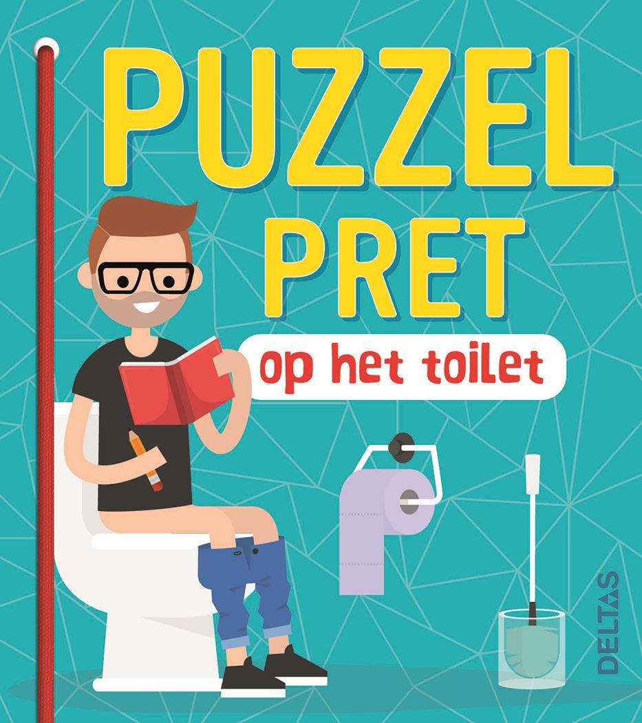puzzelpret op het toilet