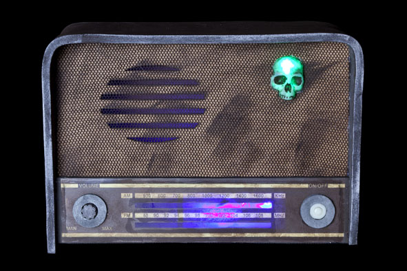 radio met kortsluiting licht en geluid