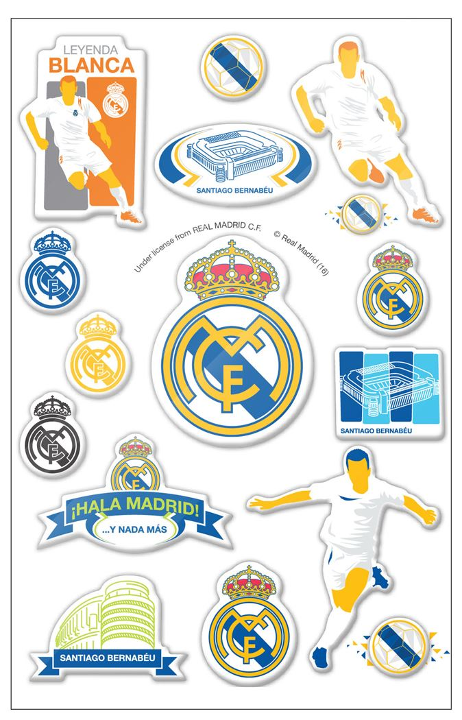 real madrid puffy stickers graphic