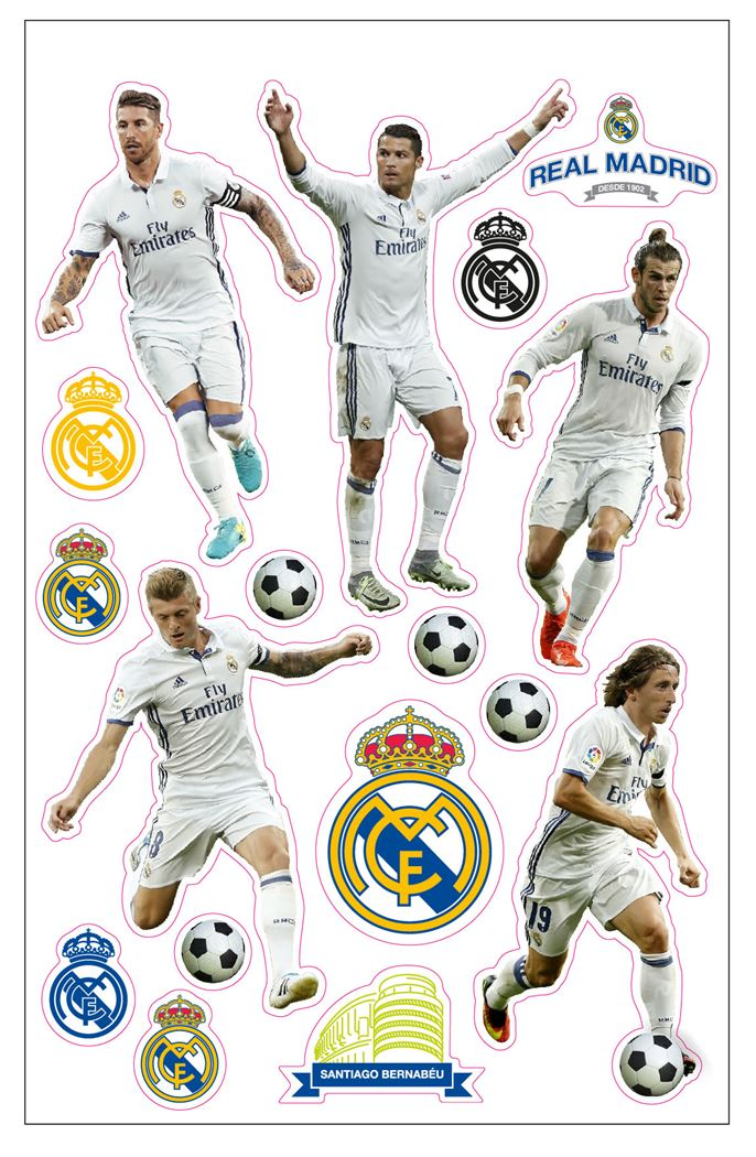 real madrid puffy stickers players