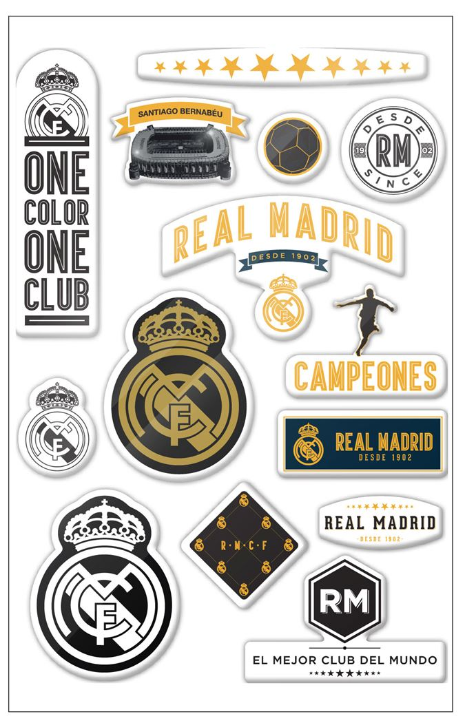 real madrid puffy stickers premium