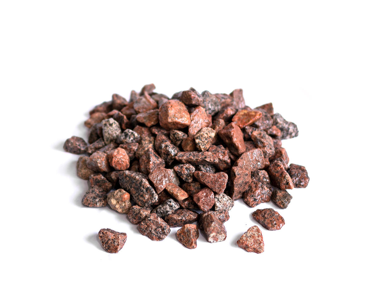 redsun natuursteen - graniet split rood 8-16mm