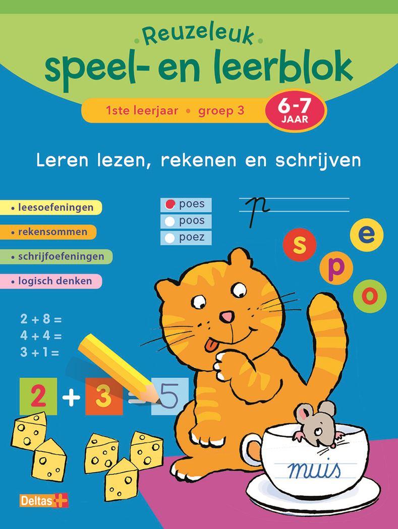 reuzeleuk speel- en leerblok lezen, rekenen en schrijven (6-7 j.)