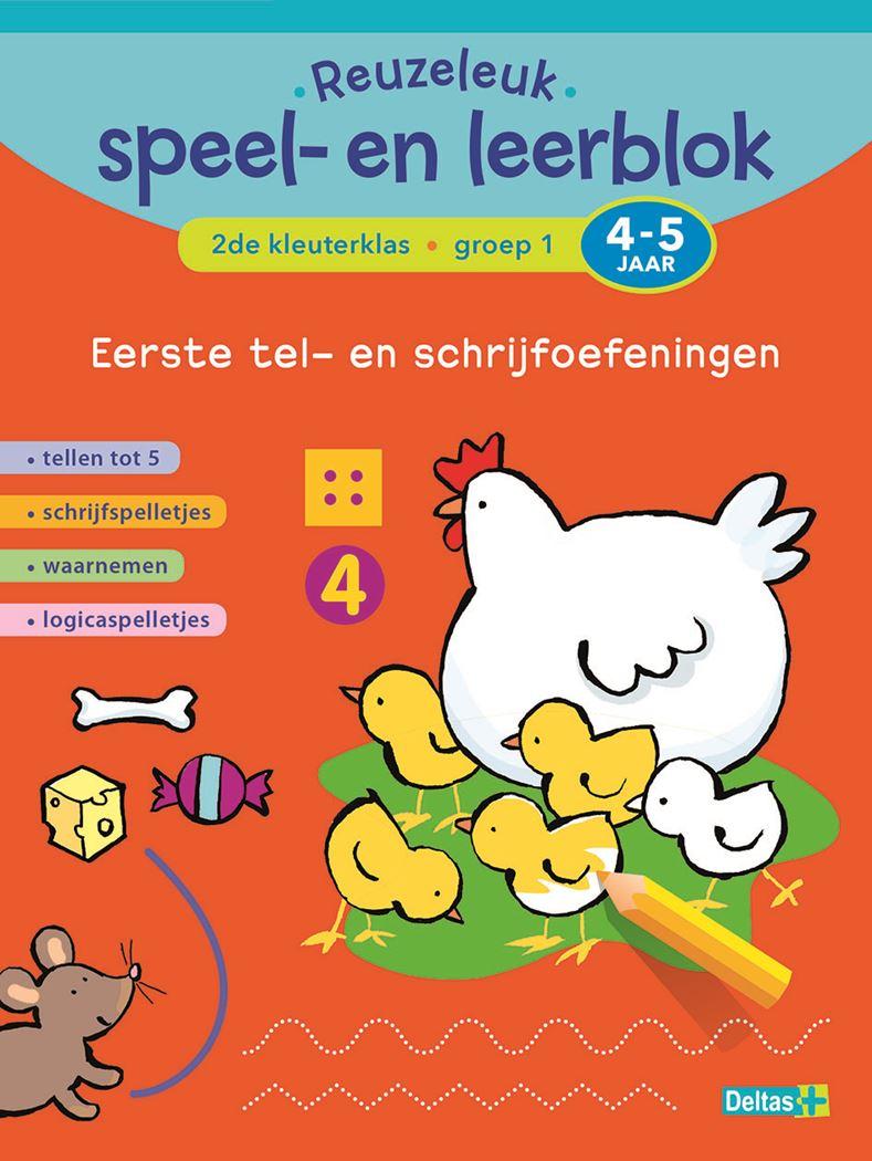 reuzeleuk speel- en leerblok tel- en schrijfoefeningen (4-5 j.)