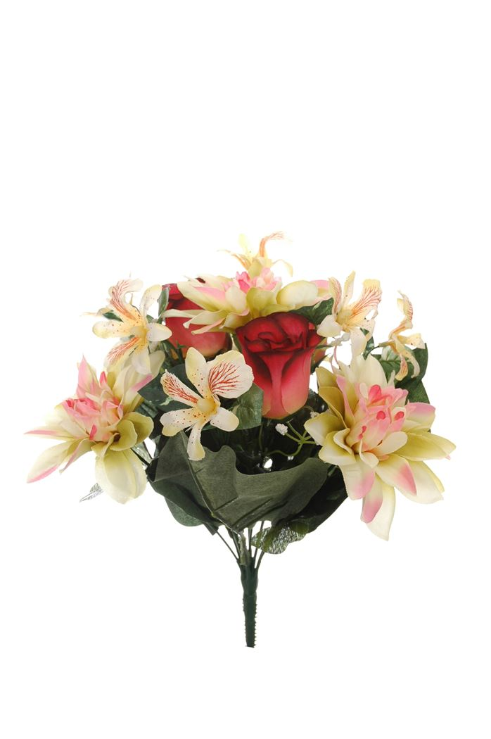 rose bud/dahlia bush x 13 beauty pink
