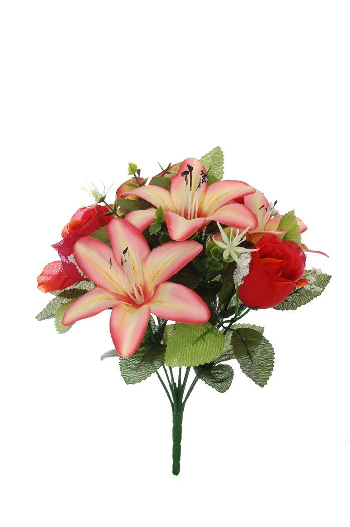 rosebud/tigerlily bush x 10 beauty