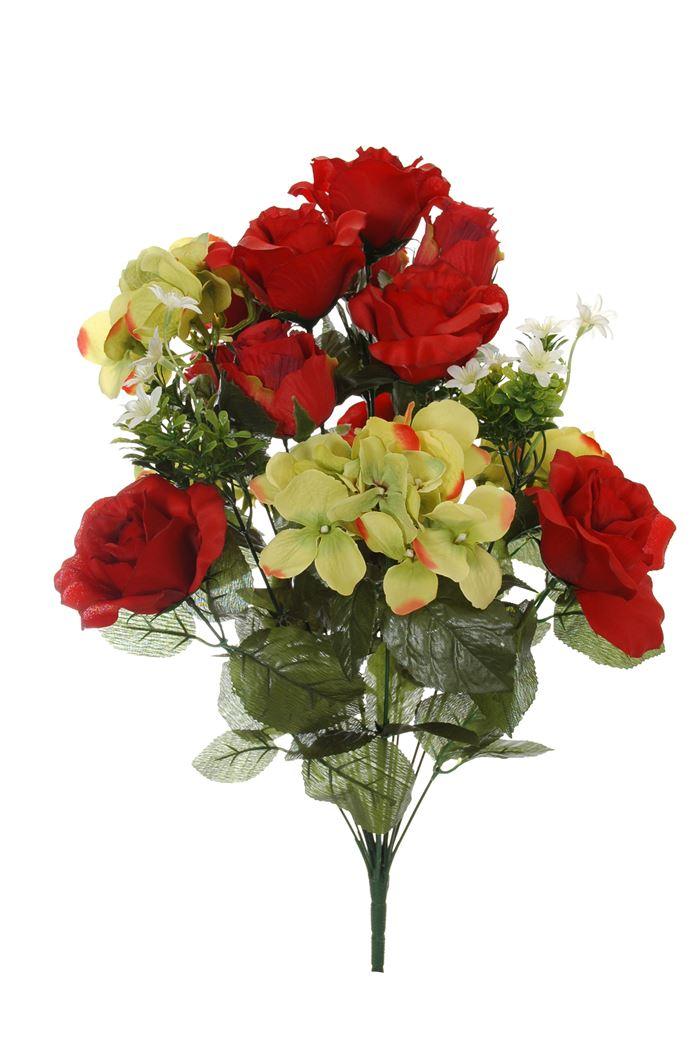 rose/rose bud/hydrangea bush x 18