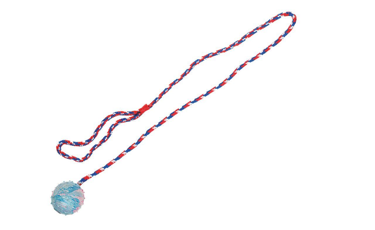rubber bal met bel met koord