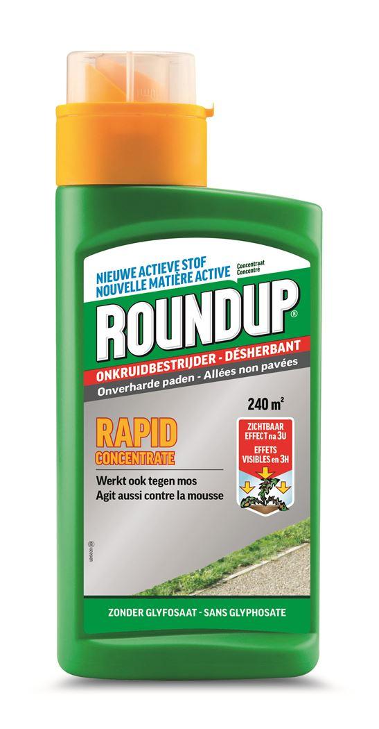 roundup rapid onverharde paden