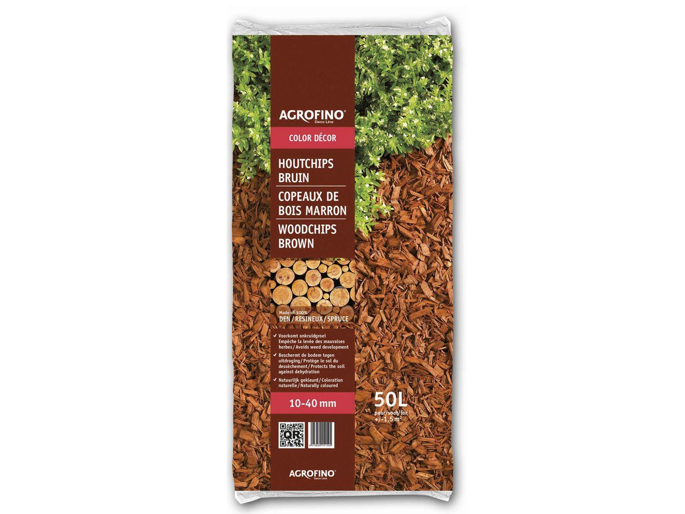saniflor dekoratieve houtsnippers 10/40mm - bruin