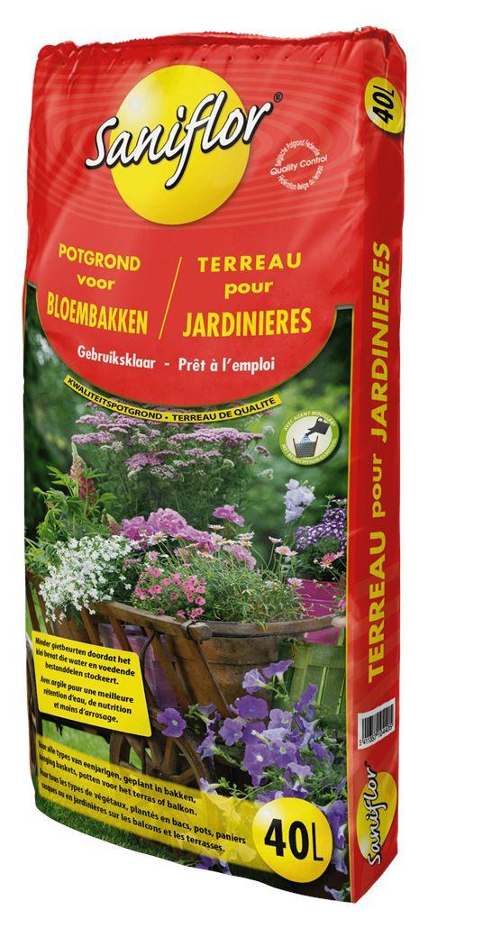 saniflor potgrond voor bloembakken