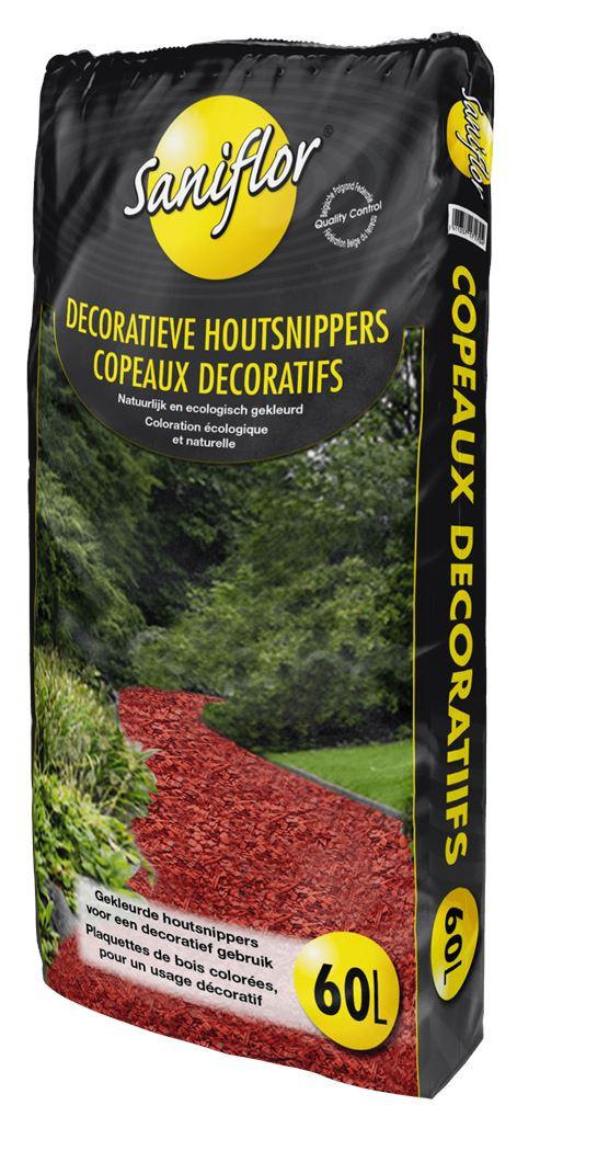 saniflor dekoratieve houtsnippers 10/40mm - rood
