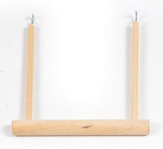 schommel open in hout parkiet