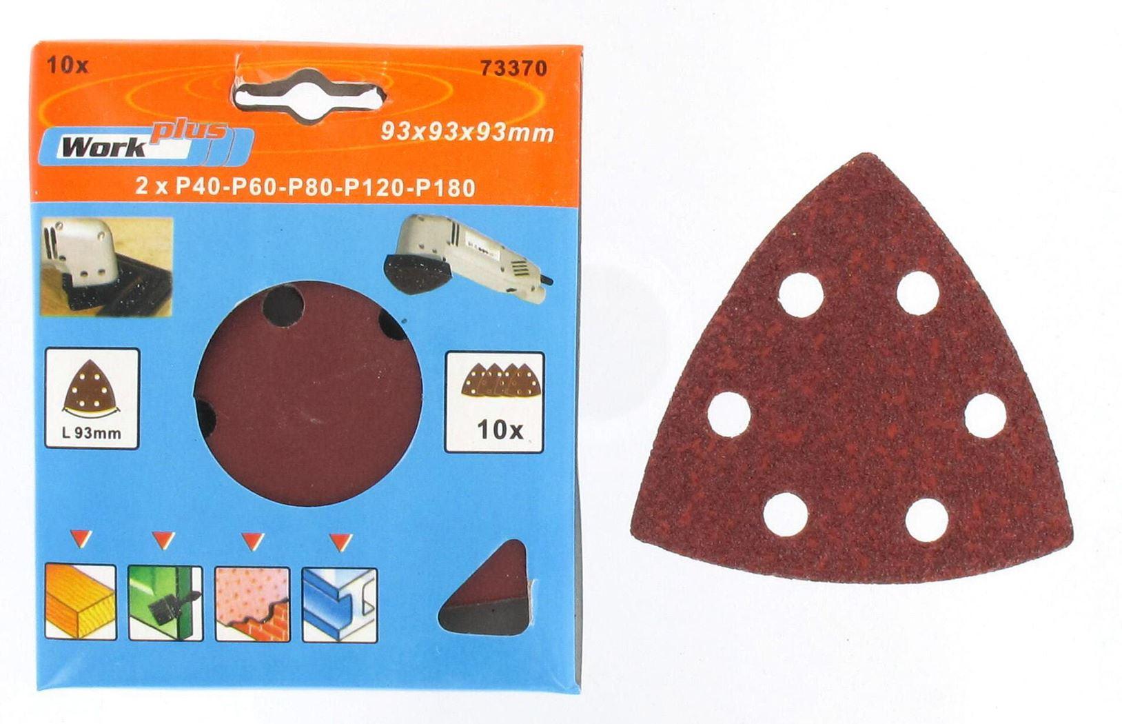 schuurpapierset driehoekig (10sts)