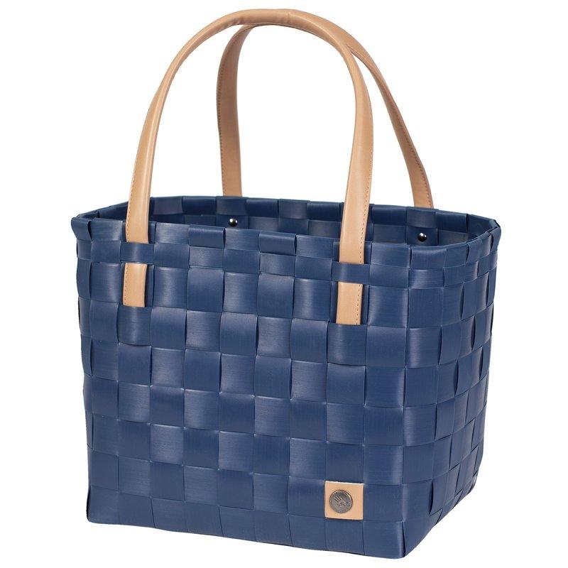 shopper fat strap ocean blue size s with pu handles