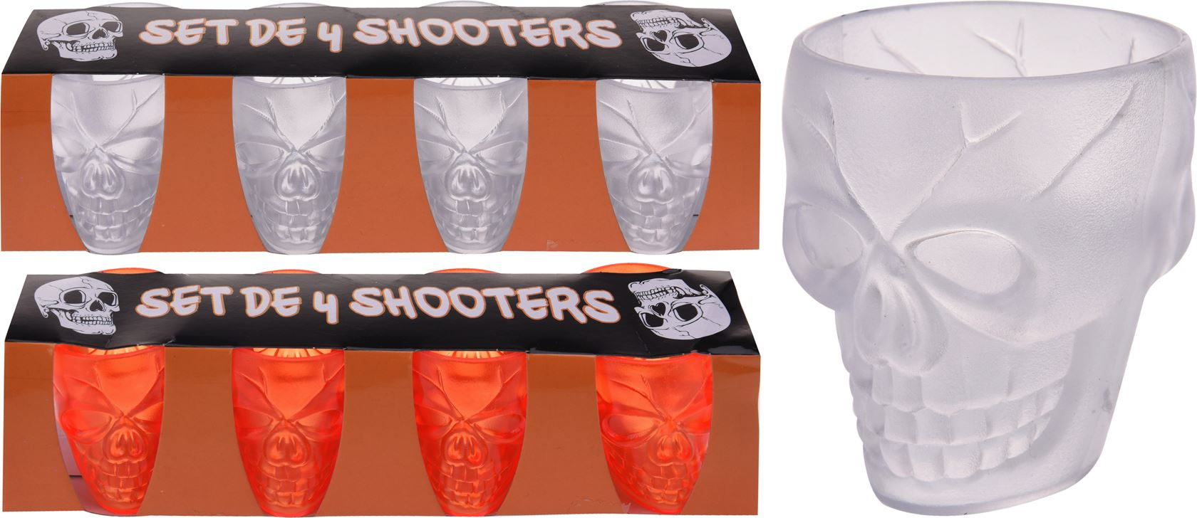 shot glas ps set (4sts)(2 kleuren ass.)