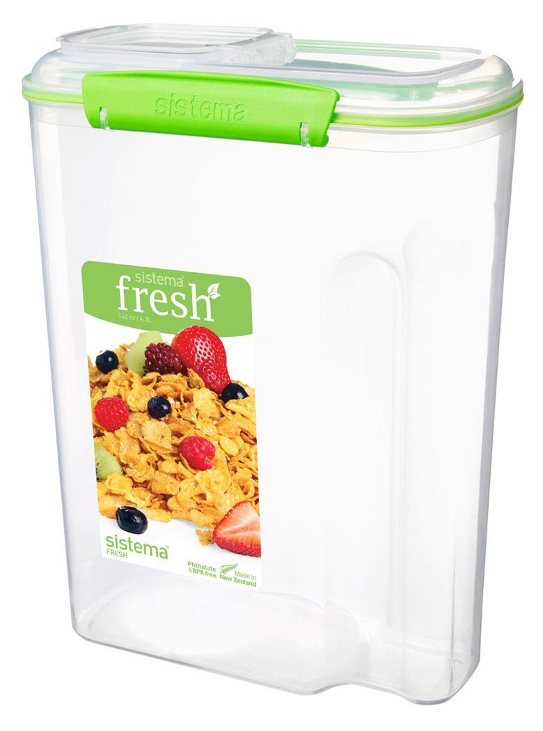 sistema klip it accents doos voor ontbijtgranen cereal fresh groen