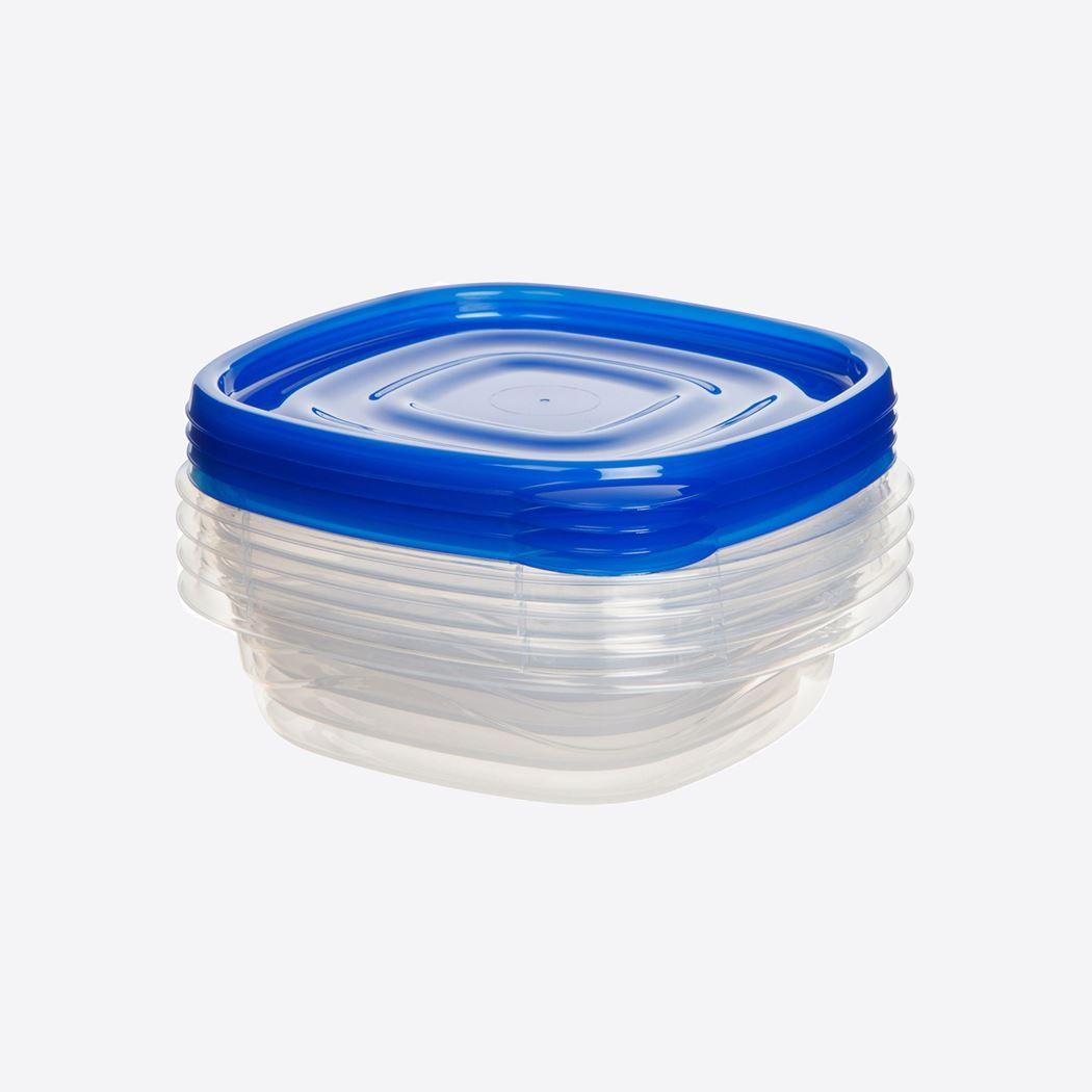 sistema takealongs set vierkante voorraaddozen blauw (4-delig)