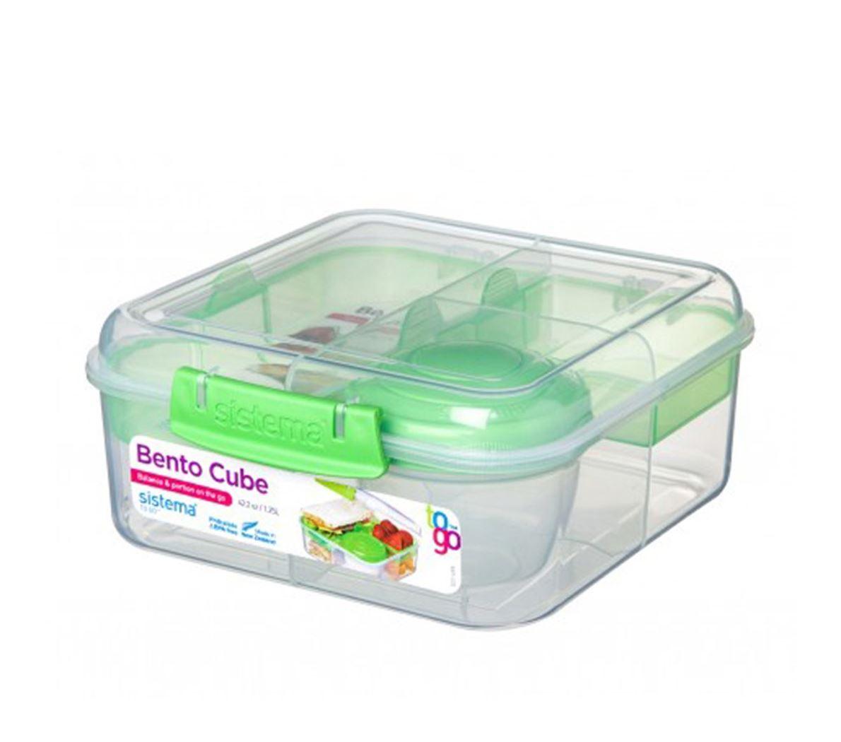 sistema to go bento cube 4 compartimenten & yoghurtpotje (4ass.)