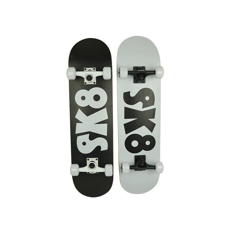 skateboard abec 3 sk8 logo design black label