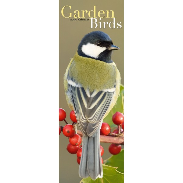 slimline kalender 2020 garden birds as