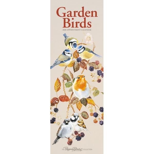 slimline kalender 2020 garden birds by poll crs