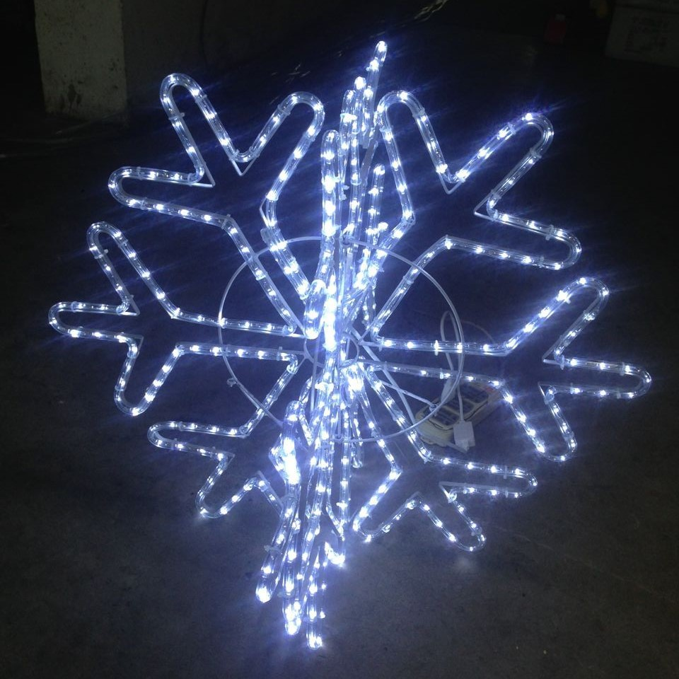 snowflake 3d cold white