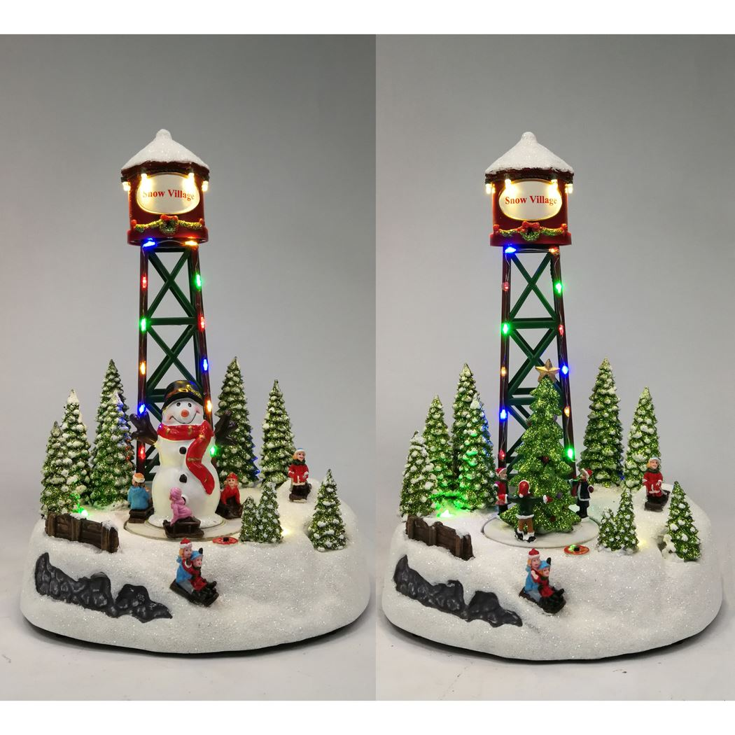 snowvillage tower 1 function multicolor led (2ass.)