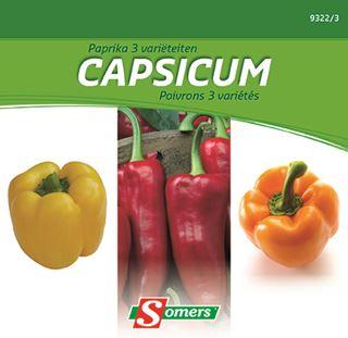 somers paprika 3 varieteiten