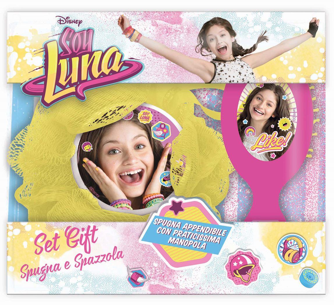 soy luna gift set (hairbrush & sponge)