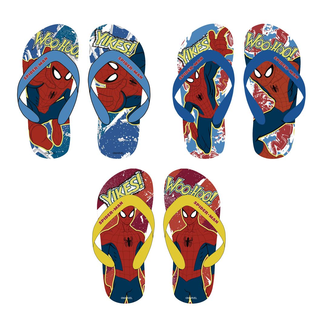 spiderman flipflops (3ass.)