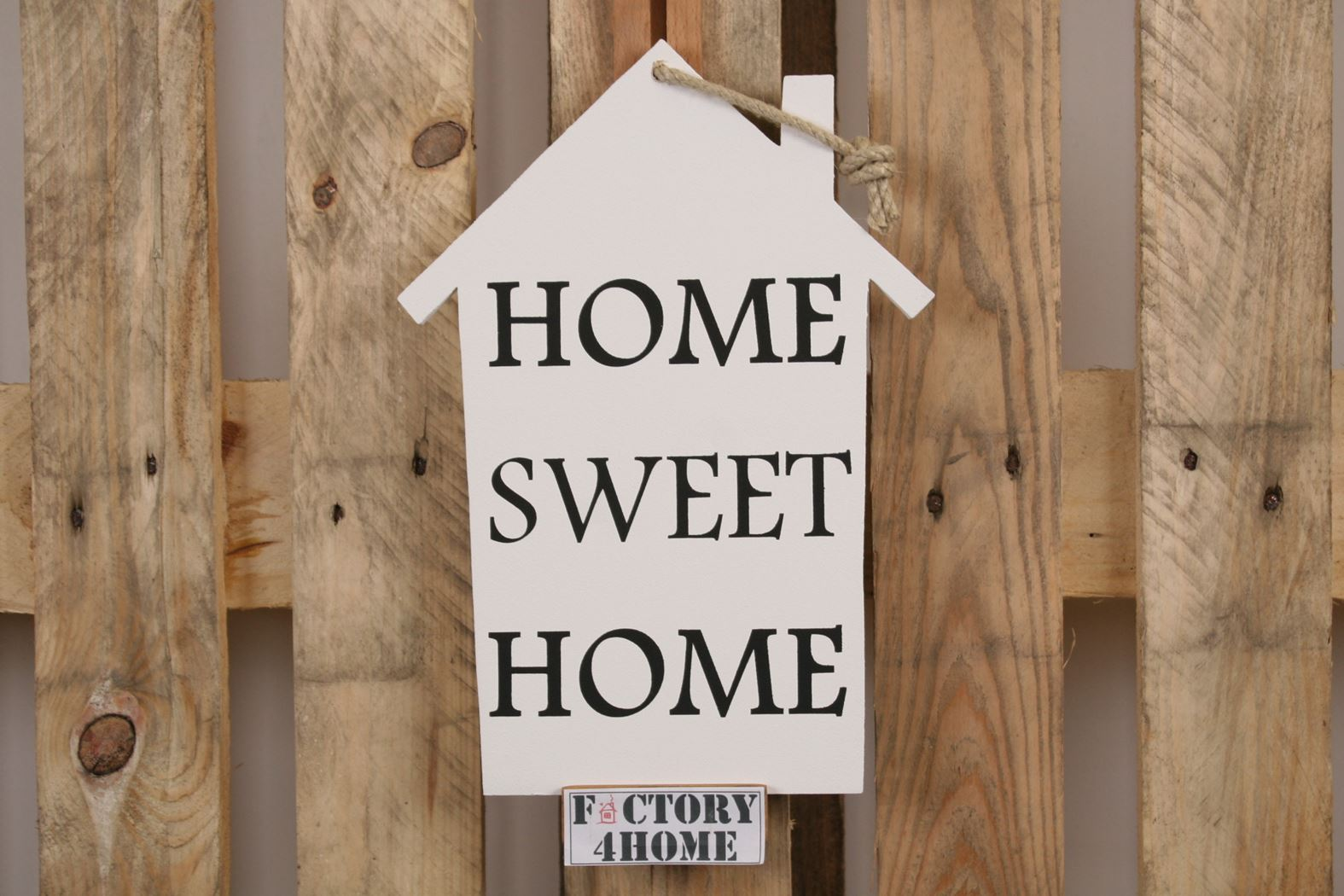 spreukbord huisje white - home sweet home
