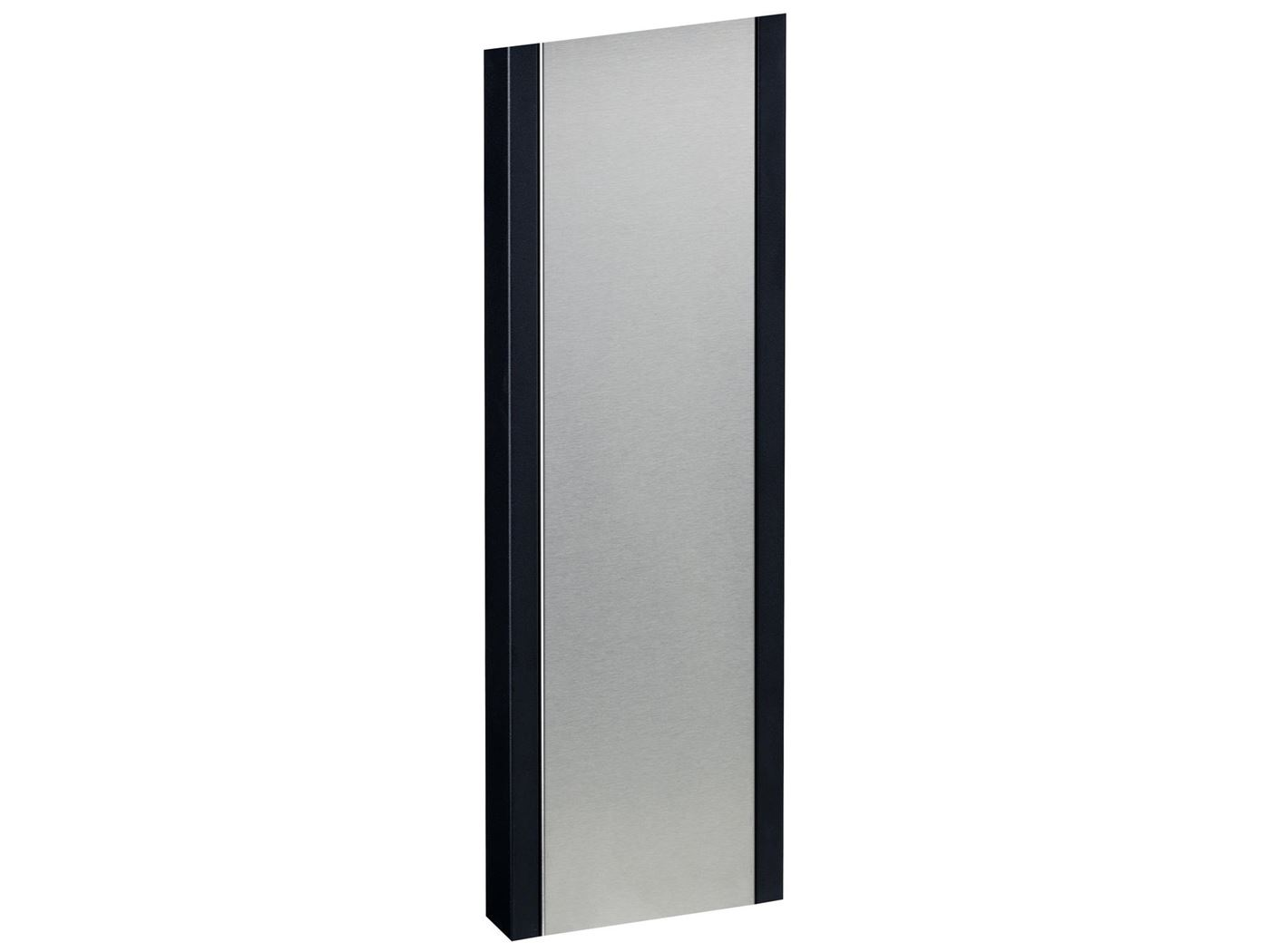 stand 1001 black with stainless steel front