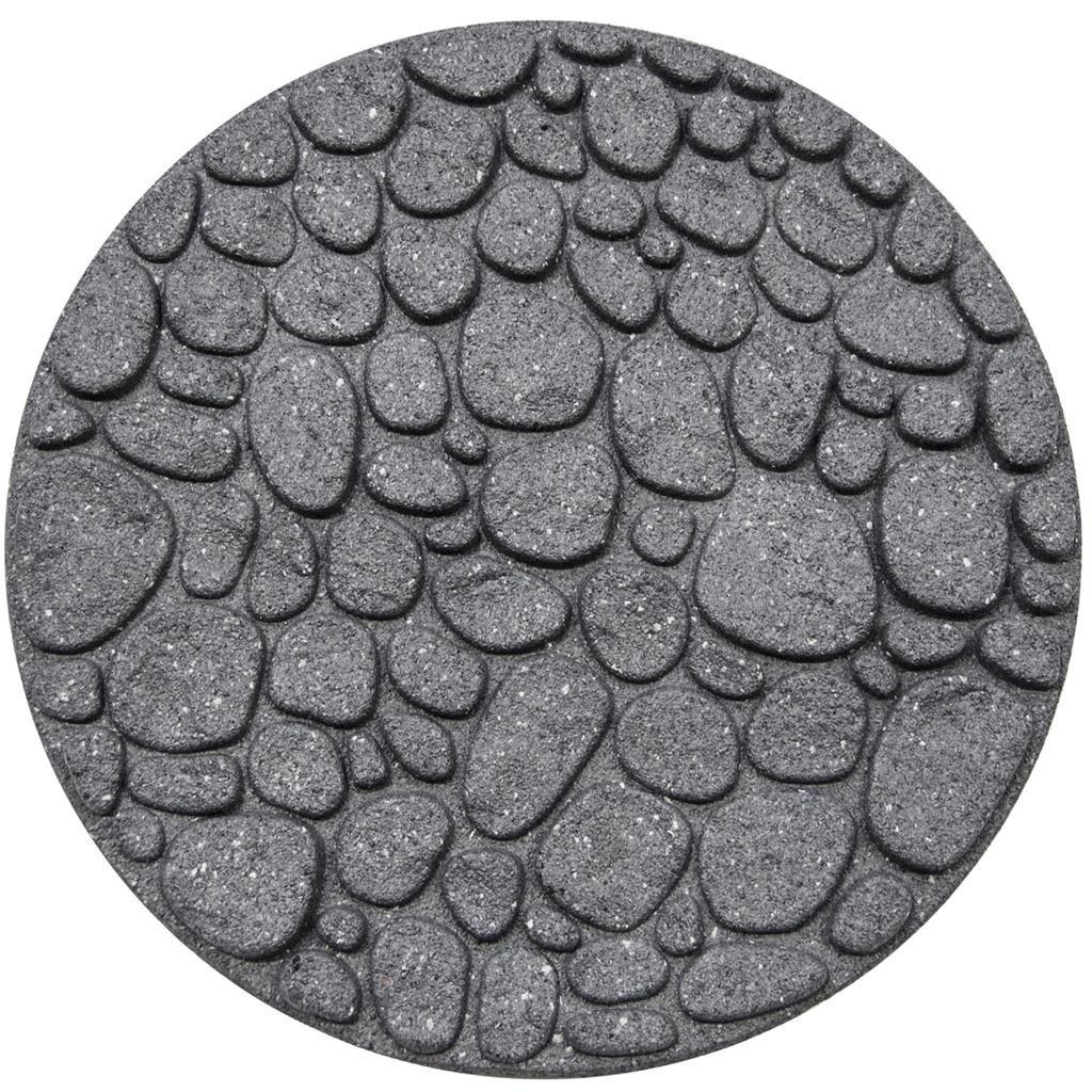 stapsteen round river rock grey