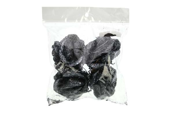 steker glitterroos zilvergrijs (4sts)