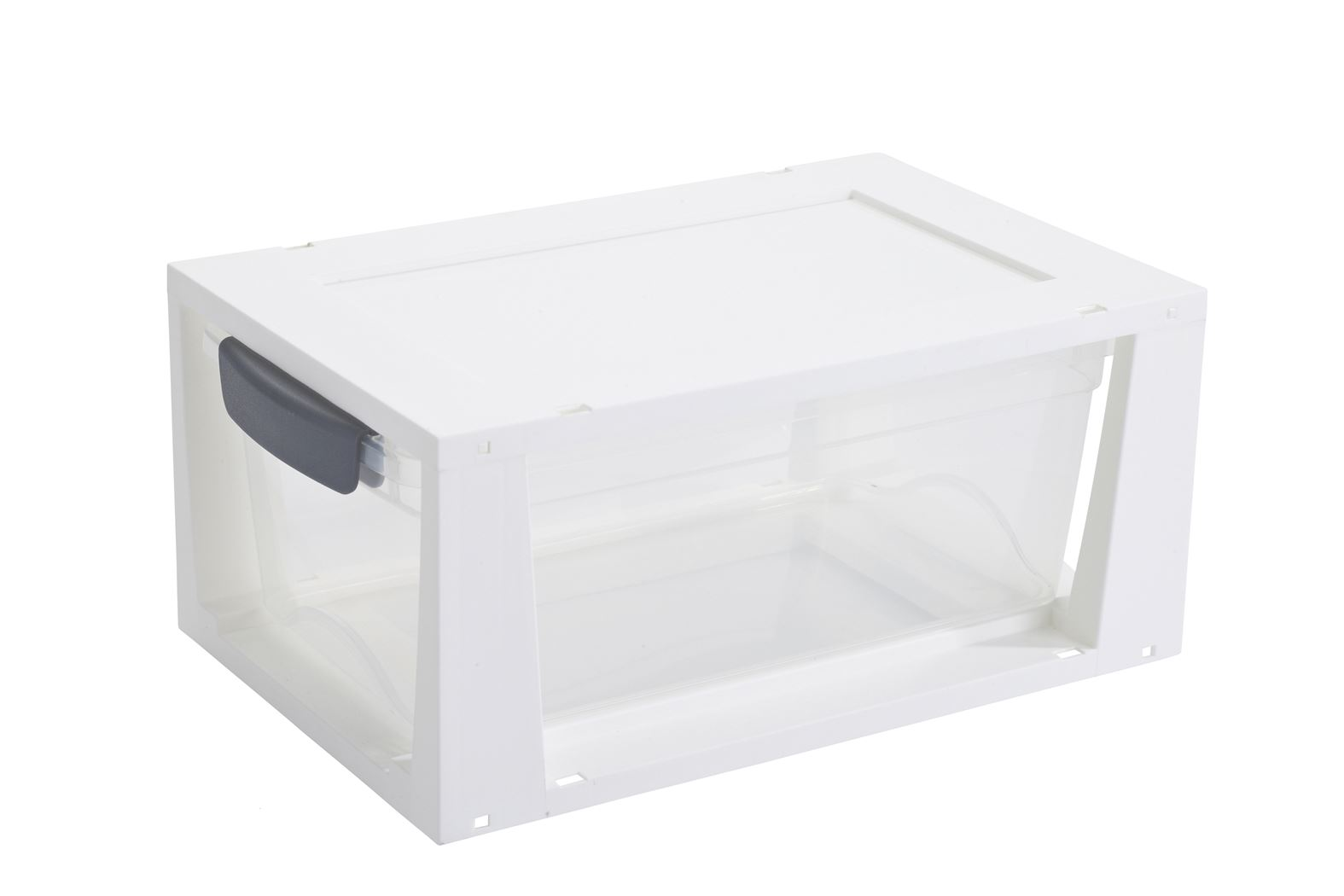 sunware omega drawer unit transparant/wit
