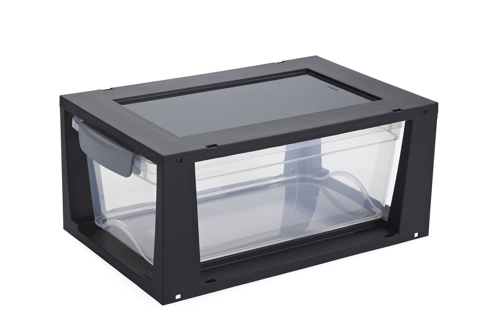 sunware omega drawer unit transparant/zwart