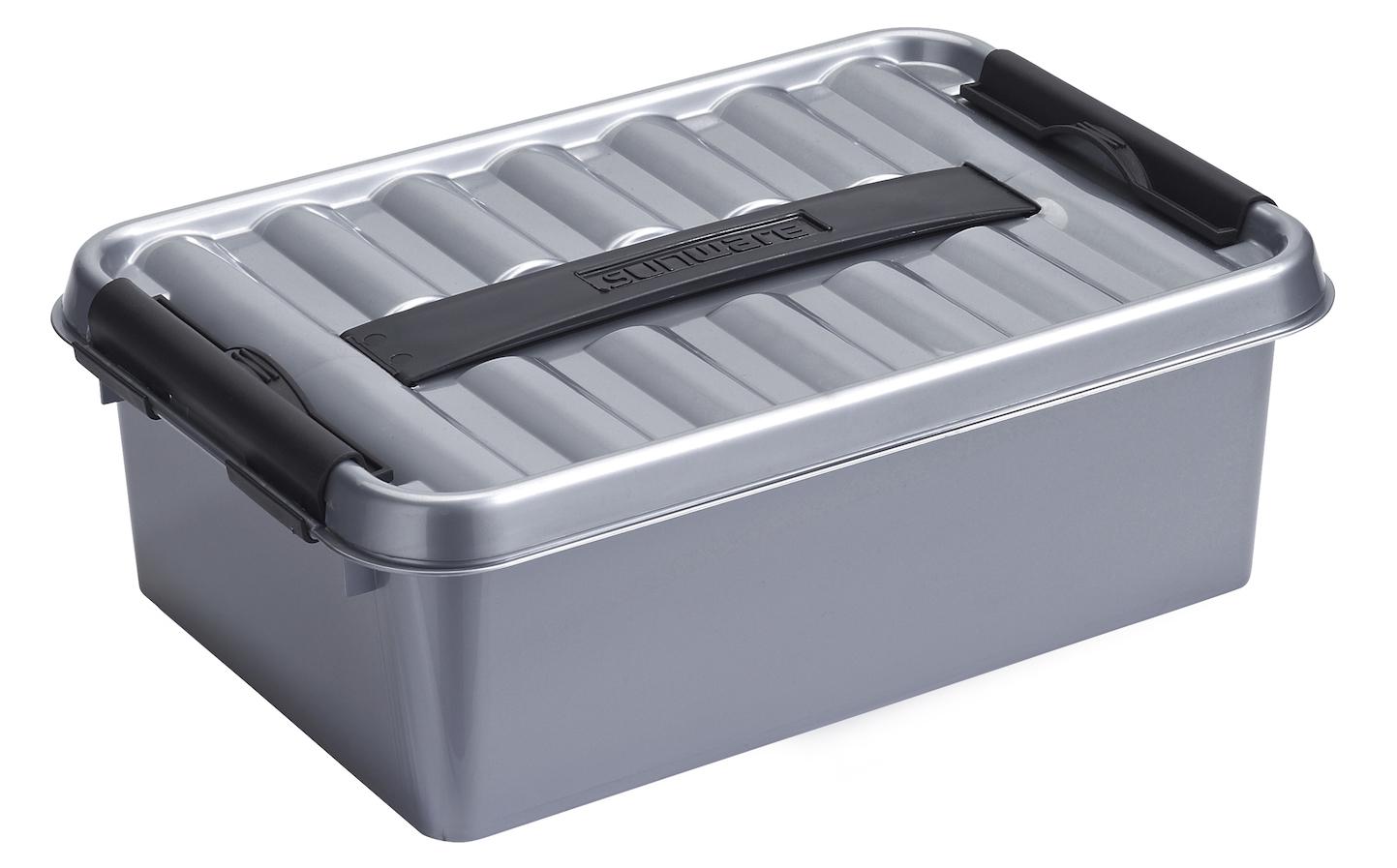 sunware q-line box metaal/zwart