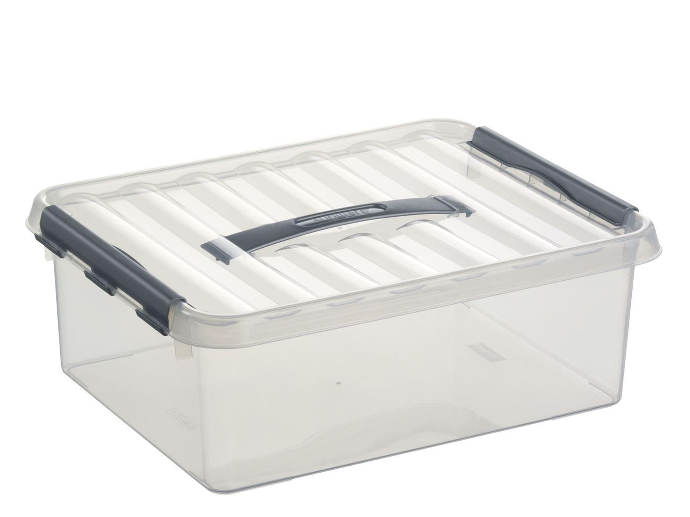 sunware q-line box transparant/metaal