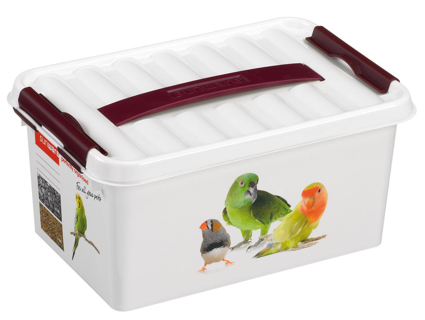 sunware q-line pet decor box wit/bordeaux