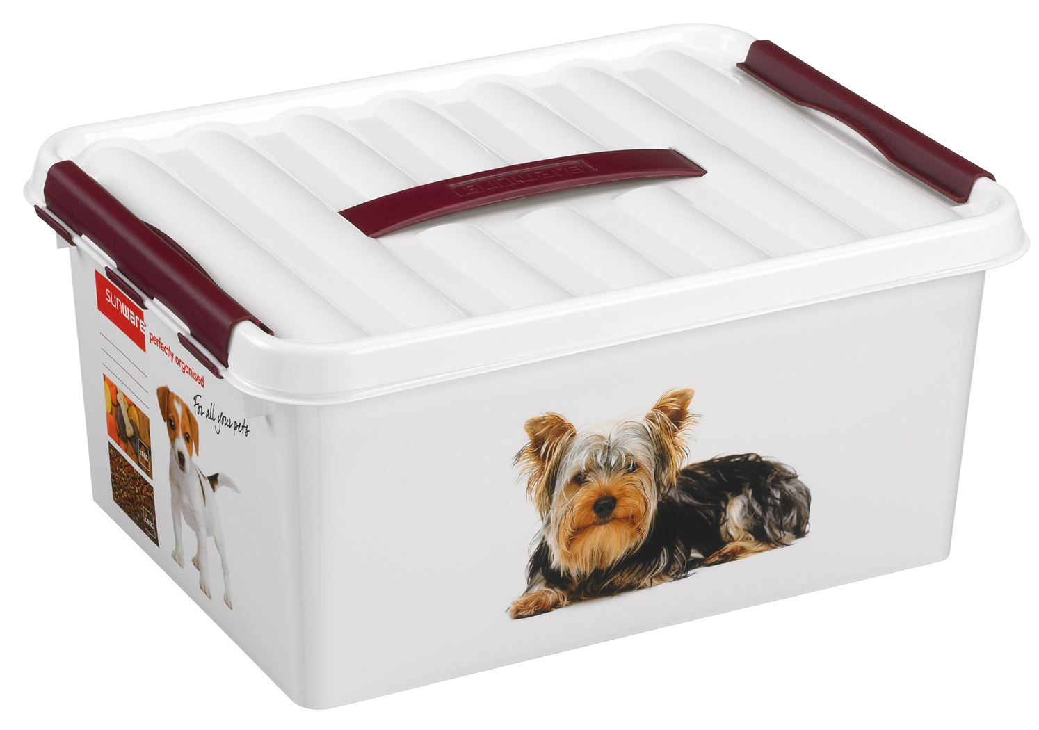 sunware q-line pet decor box wit/bordeaux