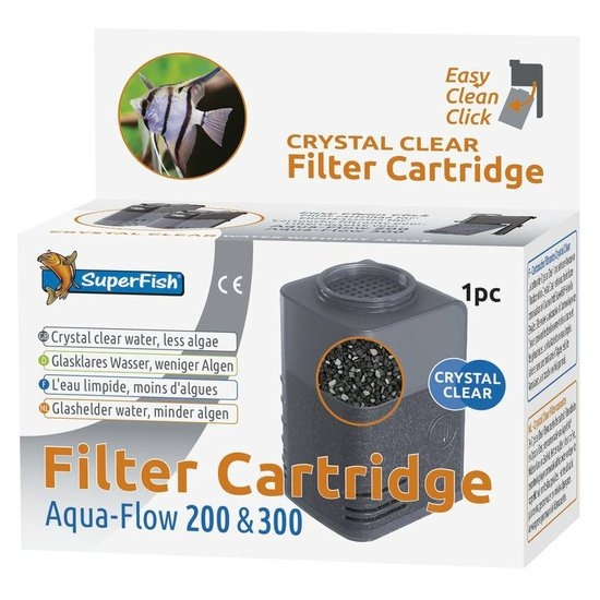 superfish aqua-flow 200/300 crystal clear cassette (1sts)