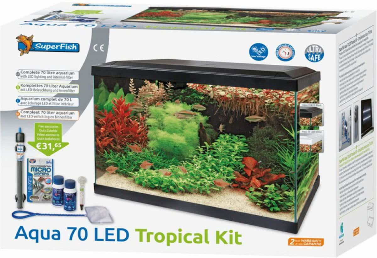 superfish aquarium start 70 led tropical kit wit