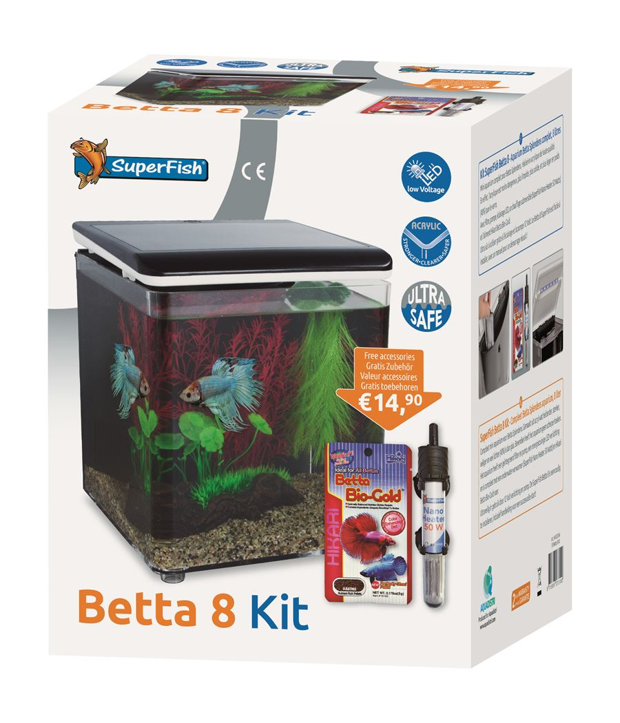 superfish aquarium betta 8 zwart